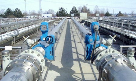 air flow control sewage treatment plant